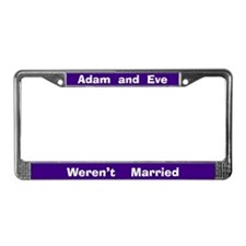 Adam & Eve #3 License Plate Frame