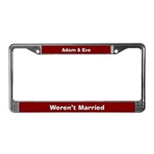 Adam & Eve License Plate Frame