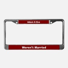 Adam & Eve License Plate Frame
