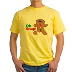 Christmas Gingerbread Oh Snap Yellow T-Shirt
