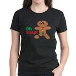 Christmas Gingerbread Oh Snap Women's Dark T-Shirt