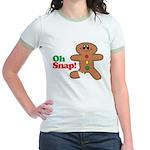 Christmas Gingerbread Oh Snap Jr. Ringer T-Shirt