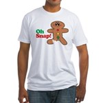 Christmas Gingerbread Oh Snap Fitted T-Shirt