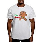 Christmas Gingerbread Oh Snap Light T-Shirt