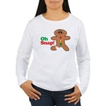 Christmas Gingerbread Oh Snap Women's Long Sleeve