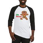 Christmas Gingerbread Oh Snap Baseball Jersey