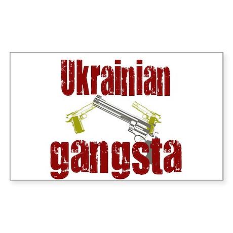 Ukrainian gangsta Rectangle Sticker