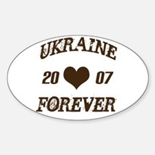 Ukraine forever Oval Decal