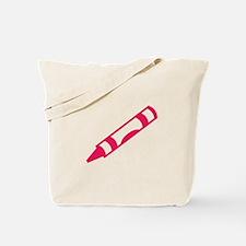 Pink Crayon Tote Bag