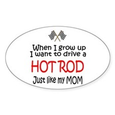 WIGU Hot Rod Mom Oval Sticker