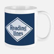 Reading Railroad Logo Blue Mugs