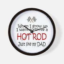WIGU Hot Rod Dad Wall Clock