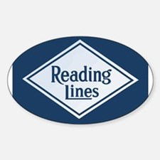 Reading Railroad Logo Blue Decal