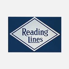 Reading Railroad Logo Blue Magnets