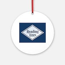 Reading Railroad Logo Blue Round Ornament