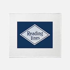 Reading Railroad Logo Blue Throw Blanket
