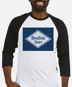 Reading Railroad Logo Blue Baseball Jersey
