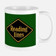 Reading Railroad Logo Green Mugs