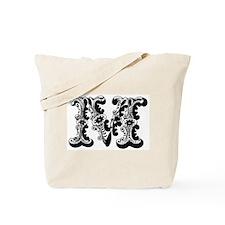 M-Decorative Letters Tote Bag