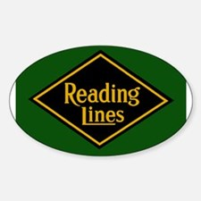 Reading Railroad Logo Green Decal