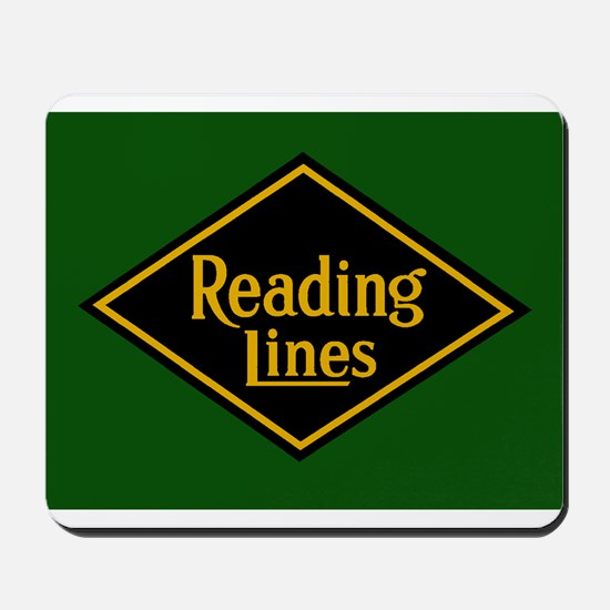 Reading Railroad Logo Green Mousepad