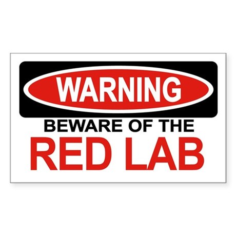 RED LAB Rectangle Sticker