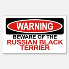RUSSIAN BLACK TERRIER Rectangle Decal