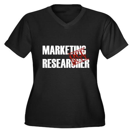 Off Duty Marketing Researcher Women's Plus Size V-