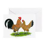 Mille Fleur Dutch Bantams Greeting Cards (Pk of 20