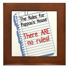 No Rules at Pappou's House Framed Tile