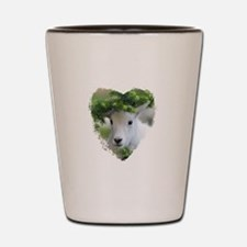 Heart Shape Baby Mountain Goat Shot Glass