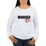 Off Duty Manager Women's Long Sleeve T-Shirt