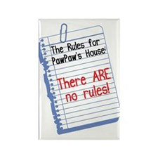 No Rules at PawPaw's House Rectangle Magnet