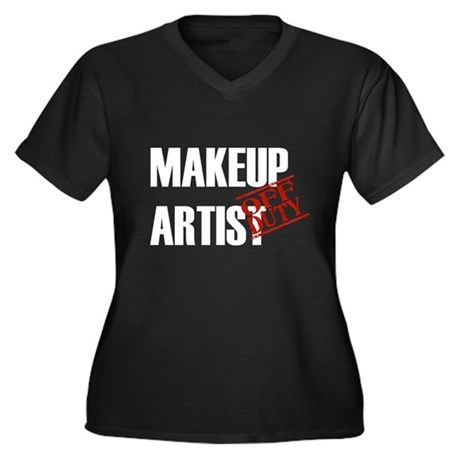 Off Duty Makeup Artist Women's Plus Size V-Neck Da