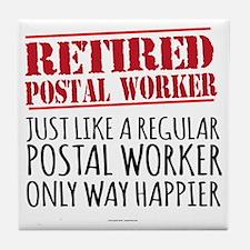 Funny Postal Tile Coaster