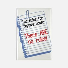 No Rules at Poppa's House Rectangle Magnet