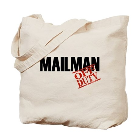 Off Duty Mailman Tote Bag