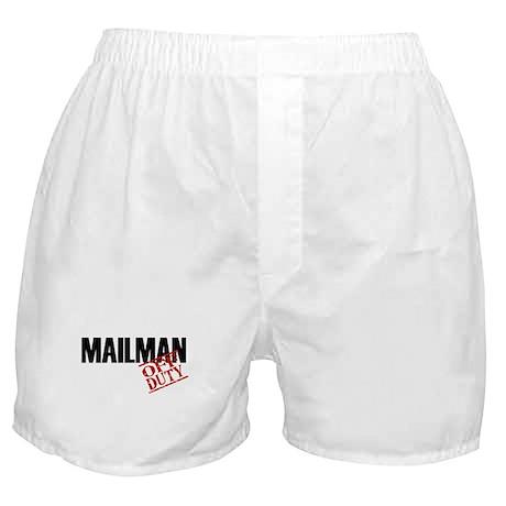 Off Duty Mailman Boxer Shorts