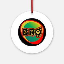 Bro Logo Round Ornament