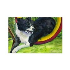 Agilty Dog Rectangle Magnet (100 pack)