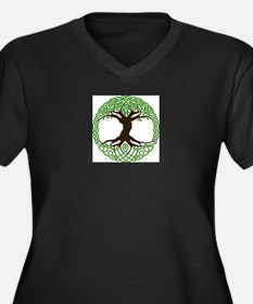 Colored Tree of Life Plus Size T-Shirt