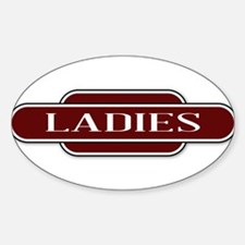 Ladies Toilet Station Name Sign Decal