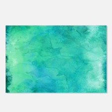 Blue Green Aqua Teal Turq Postcards (Package of 8)