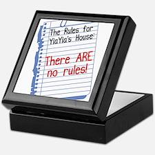 No Rules at YiaYia's House Keepsake Box