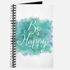 Be Happy Watercolor Inspirational Quote Journal