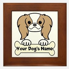 Personalized Japanese Chin Framed Tile