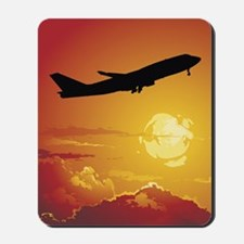 Airplane in Flight Mousepad