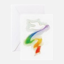 Dove with Rainbow Ribbon Greeting Cards (Package o