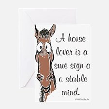 Bay Horse Lover Greeting Cards