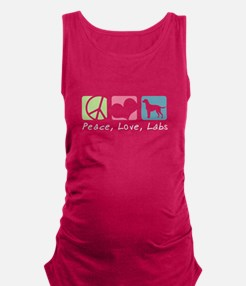 Unique Peace love and chocolate Maternity Tank Top